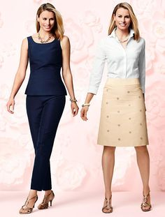 Talbots - Faille Peplum Top   Events and Occasions   Misses