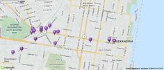 Map of Alexandria VA   Alexandria Virginia Hotels, Restaurants, Airports   MapQuest