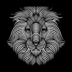 Lion | Patrick seymour Illusion Kunst, Illusion Art, Repetition Art, Patrick Seymour, Scratchboard Art, Scratch Art, Op Art, Fractal Art, Optical Illusions