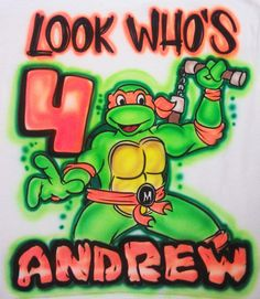 Airbrushed Ninja Turtles Design Custom T Shirt By TheDeQorator