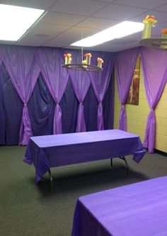 Royal craft room - love the curtains, cheap to do with plastic table coverings All sorts of colors this can be done in! Description from pinterest.com. I searched for this on bing.com/images