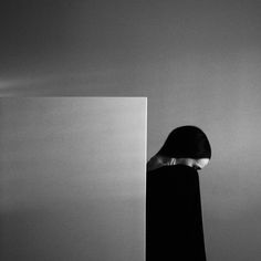 Visual artistNoell Osvald (previously) creates startlingly bold works through simple gestures all performed in black and white. The self-portraits rarely show the 25-year-old artist's face, instead expressing emotion through the way she tilts her head or slightly crooks her neck. Emphasizing line,