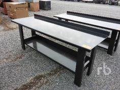 Unused 30 IN. X 90 IN. Heavy Duty Shop Table Misc Shop, Warehouse, Consumer Warehouse, Table, Shopping, Tables, Magazine, Desk, Barn, Tabletop, Storage