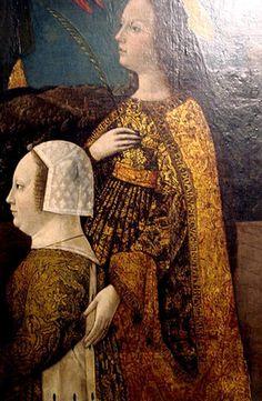 Bona of Savoy with a saint,XVth c.