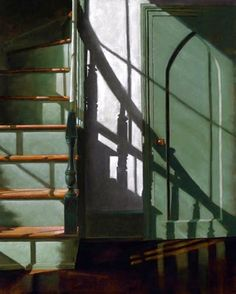 James Neil Hollingsworth. Oil on canvas.....http://www.pinterest.com/leabell52/light-on-structures/