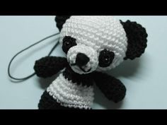 How To Make A Cute Crocheted Key Charm Panda - DIY Crafts Tutorial - Guidecentral - YouTube