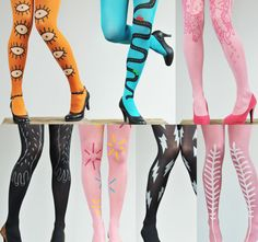 colorful printed nylons