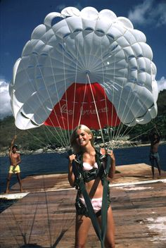 """Up up and away...""""Paraglider"""" by Slim Aarons"""