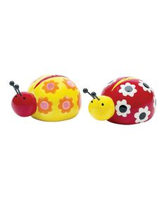 This hand-painted pair likes to spice things up! Two bitty bugs are actually delightfully disguised salt and pepper shakers, adding a touch of fun to any tabletop. Includes salt and pepper shakers3.5'' W x 2.5'' H x 2'' DEarthenwareHand washImported<...