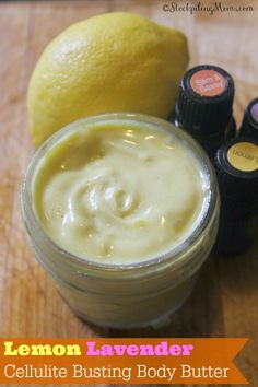 Lemon Lavender Cellulite Busting Body Butter - Make your own DIY Wrap to remove toxins and blast cellulite!