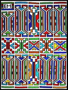 Fine Art by leading South African and International Contemporary Artists African Quilts, African Textiles, Tribal Patterns, African Patterns, South Afrika, Afrique Art, African Artwork, South African Artists, Principles Of Design
