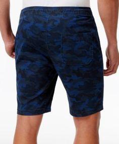 American Rag Men's Stretch Camo Twill Drawstring Jogger Shorts, Only at Macy's - Green 2XL