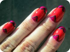 Concrete and Nail Polish: Heart Parts Valentine's Day Nails