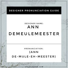 how to pronounce designer names