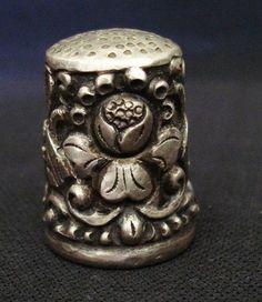 Vintage 800 Silver Thimble | eBay