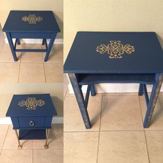 Side tables with stencils