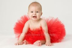 Custom Made New Born Tutu-->Baby In Red TuTu#looksgoodonya