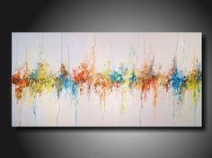 "Abstract painting - Large - Landscape - painting on - Canvas - by Artist JMJartstudio XXL "" 24 X 48 "" citron by JMJARTSTUDIO on Etsy https://www.etsy.com/listing/208377315/abstract-painting-large-landscape"