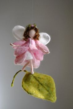 Flower Fairy Room Decoration Waldorf inspired needle felted :