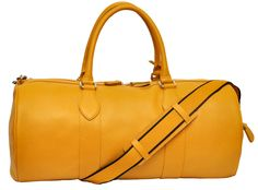 Luxury yellow leather bag designed to make you feel special.