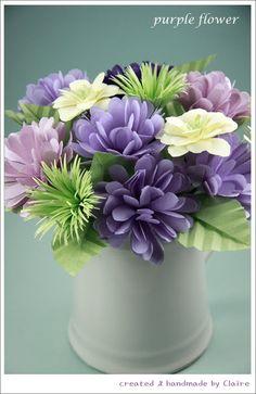 Claire's paper craft: purple