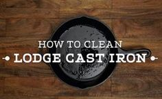 The following is use and care for Lodge Seasoned Cast Iron. By following these instructions, your cookware can last you more than a lifetime.