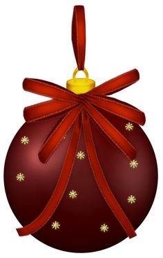 Red Christmas Ball PNG Clipart Picture
