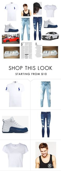 """""""ooh yaya back up off me"""" by fashionqueen1095 ❤ liked on Polyvore featuring Polo Ralph Lauren, Dsquared2, NIKE, J Brand, RE/DONE, Toni&Guy and Nicki Minaj"""