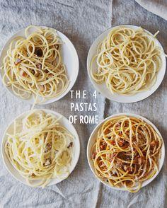 THE 4 PASTAS OF ROME // The KItchy Kitchen