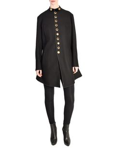 31d74ea97f1 Jean Paul Gaultier Vintage Iconic Black Wool Military Inspired Coat Ja -  from Amarcord Vintage Fashion