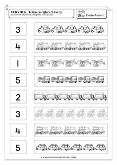 Kindergarten Math Worksheets, Math Literacy, Transportation Theme Preschool, English Projects, English Exercises, Kids English, Free Preschool, Math Numbers, Activities For Kids