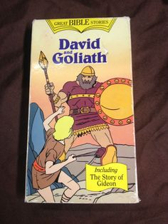 GREAT BIBLE STORIES DAVID AND GOLIATH VHS (1987)