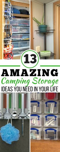 camp organization These 13 camping storage ideas are THE BEST! Im so happy I found these AMAZING camping organization hacks! Now, whenever I need DIY camping solutions I can reference this incredible article. Camping Storage, Camping Organization, Camping Games, Diy Camping, Camping Checklist, Camping Essentials, Camping With Kids, Camping Equipment, Family Camping