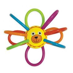 Zoo Winkels Lion! Soft plastic loops are easy to grasp and can be refrigerated for a soothing teether. The #Winkel is made of PU tubing (polyurethane) and as such does not contain BPA or PVC and meets the SPSIA and European requirements for phthalates.