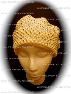 White Rhinestone Bubble Hat available @ www.luckyonejewelry.com $30