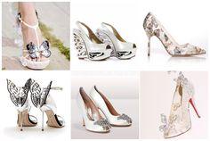 sposa scarpe con farfalle matrimonio / butterfly bridal shoes