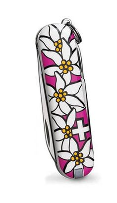 BUY NOW Victorinox Swiss Army Classic Edelweiss Pocket Knife (Pink) From city slickers to masters of the agrarian sciences, everyone who carries