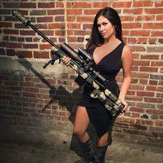 #Repost @_sami_herrington_ ・・・ Gun safety rules: Don't piss off the girl holding the gun.  #6.5creedmoor#customrifle#creedmoor#deltawaterfowl#littleblackdress#girlswithguns