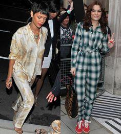 Pyjama inspired fashion by Rihanna and Jessie J
