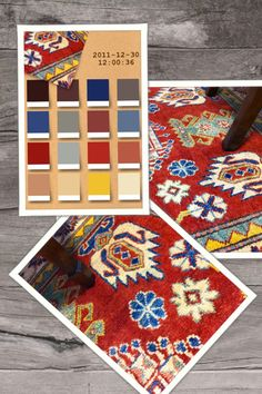 Rug color palette - Kazak, 100% wool, hand knotted 80022191
