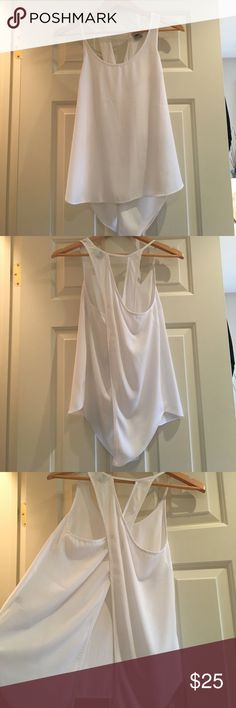 White open-back, flowy going out top 10/10 condition, Super cute, flowy open-back going out top, lightweight perfect sexy summer top! ASOS Tops Blouses