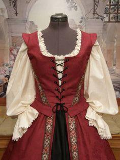 Renaissance Costume, Renaissance Dresses, Medieval Costume, Medieval Dress, Medieval Clothing, Historical Clothing, Lolita Dress, Refashion, Costume Design