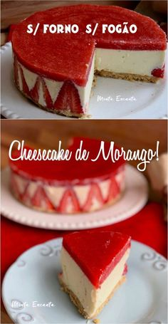 My Recipes, Sweet Recipes, Dessert Recipes, Cake Recipes, Food Wishes, Portuguese Recipes, Strawberry Cheesecake, Vegan Cake, Christmas Desserts