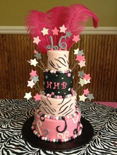 16th Birthday Cake That I Made For A Young Lady Cakes Women