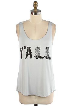 Hey Y'all Tank Top (Gray,Pink, or Mint) – Texas Two Boutique  RESTOCKED!