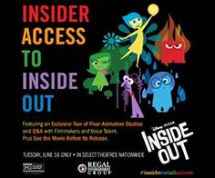 Insider Access Inside Out Movie Tickets and Showtimes