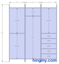 Standard Closet Measurements | This design is meant be as versatile as possible. It offers the most ...