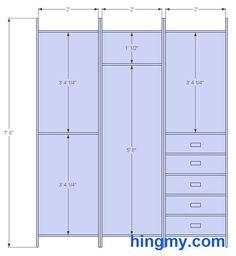 Double Rod Closet Heightheight of closet chart below
