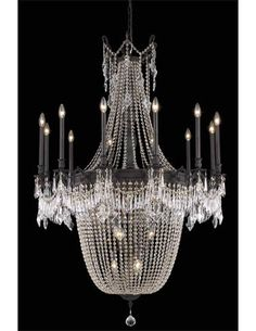 Elegant Lighting's Esperanza chandelier features their exclusive Royal Cut Crystals. www.trimelectric.com