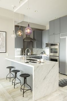 REHAU's matte surfaces are perfect in any modern kitchen design. Create looks like these with our FENIX NTM surfaces: http://na.rehau.com/redirect/fenix